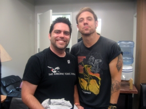 Glen with Mikel Jollett of The Airborne Toxic Event
