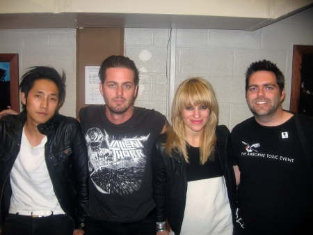 Glen with Steven Chen, Noah Harmon and Anna Bulbrook of The Airborne Toxic Event