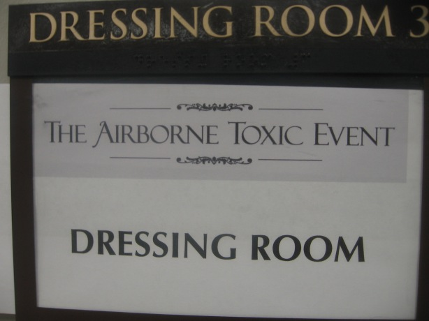 The Airborne Toxic Event Dressing Room