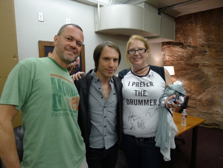 Jen, Mike and drummer Daren Taylor of The Airborne Toxic Event