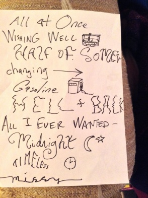 Setlist photo by TATE fan Christina