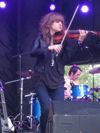 Anna Bulbrook of The Airborne Toxic Event Perfoms at Squamish Festival, 2012. Photo by Glen