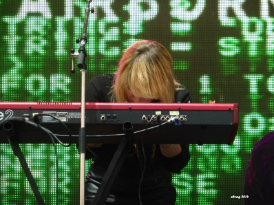 Anna Bulbrook of The Airborne Toxic Event, Boonstock Music Festival, Penticton, BC, Aug. 1, 2014. Photo by TATE fan Elva.
