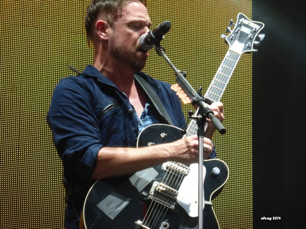 "Mikel Jollett and The Airborne Toxic Event debuted new songs ""Dope Machines"" and ""California"" at Boonstock Festival, Penticton, BC, Aug. 1, 2014. Photo by TATE fan Elva."