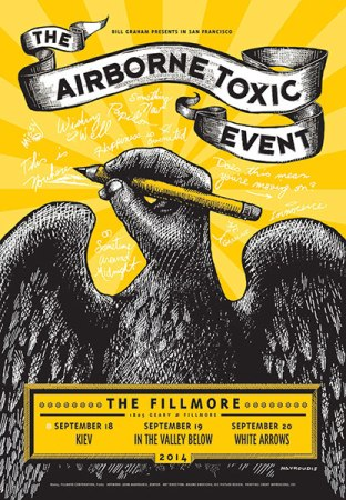 The Airborne Toxic Event Fillmore Night 1 poster created by John Mavroudis (http://zenpop.com).