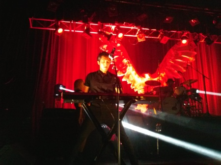 Steven Chen of The Airborne Toxic Event takes a turn on the keys. Photo by Amber, Atlanta, GA, Sept. 28, 2014.