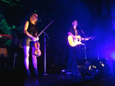 Anna Bulbrook and Mikel Jollett of The Airborne Toxic Event. Photo by Amber, Atlanta, GA, Sept. 28, 2014.