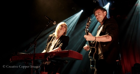 Anna Bulbrook, Mikel Jollett and The Airborne Toxic Event explore new sonic territory on Dope Machines. Photo by Creative Copper Images, Oct. 23, 2014, Vancouver, BC.