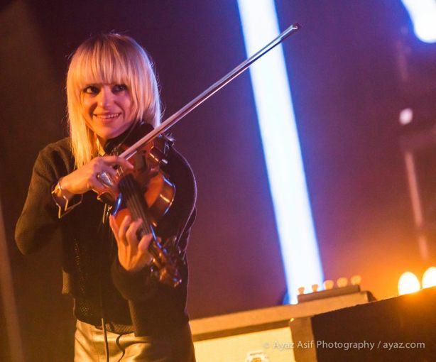 Anna Bulbrook of The Airborne Toxic Event, Burlington, 2014. Photo by Ayaz Asif Photography: https://www.facebook.com/AyazAsifPhotography.