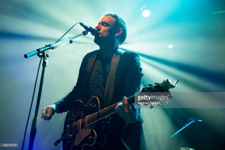 Mikel Jollett of The Airborne Toxic Event performs on stage at KOKO on April 14, 2015 in London, United Kingdom. Credit: Andrew Benge.