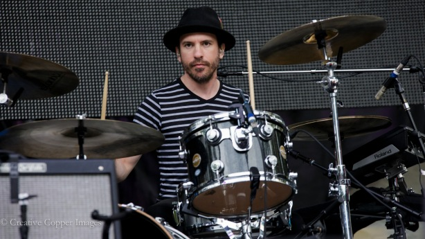 Daren Taylor of The Airborne Toxic Event wowed the Bumbershoot crowd with his patented drum solo. Photo by Creative Copper Images.