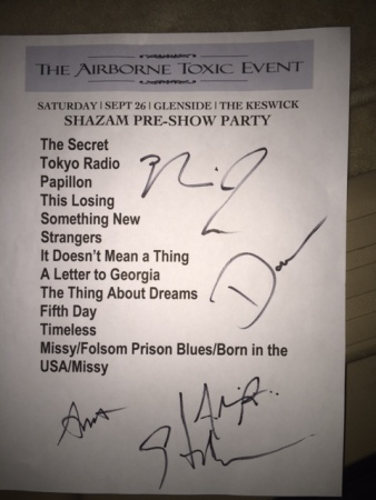 The Airborne Toxic Event setlist
