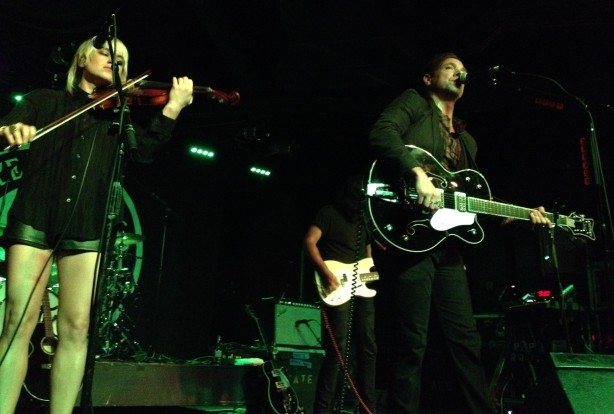 "Mikel Jollett, Anna Bulbrook and The Airborne Toxic Event were ""Something Else"" Saturday in Sacramento. Photo by Glen."