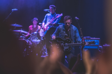 The Airborne Toxic Event was at the height of their powers on the Whiskey Machine Tour. Photo by Ryan Macchione.