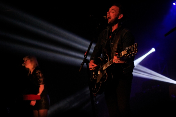 Mikel Jollett and Anna Bulbrook of The Airborne Toxic Event, 2015
