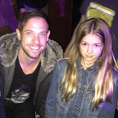 Megan with Mikel Jollett of The Airborne Toxic Event