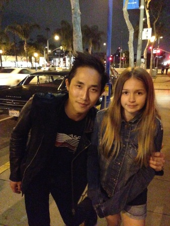 Megan with Steven Chen of The Airborne Toxic Event